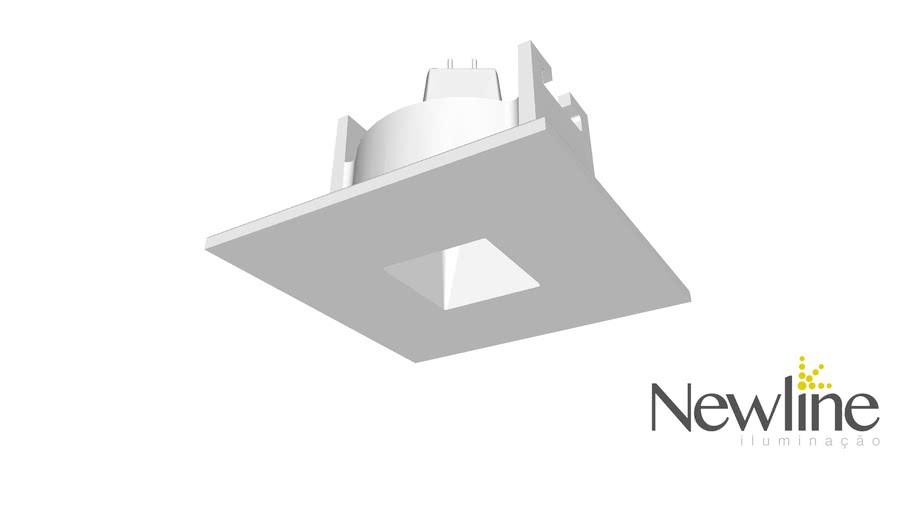 SPOT DE EMBUTIR LISSE PIN HOLE 1 MINI DICROICA LED 63X63X55MMBT IN50931BT- NEWLINE