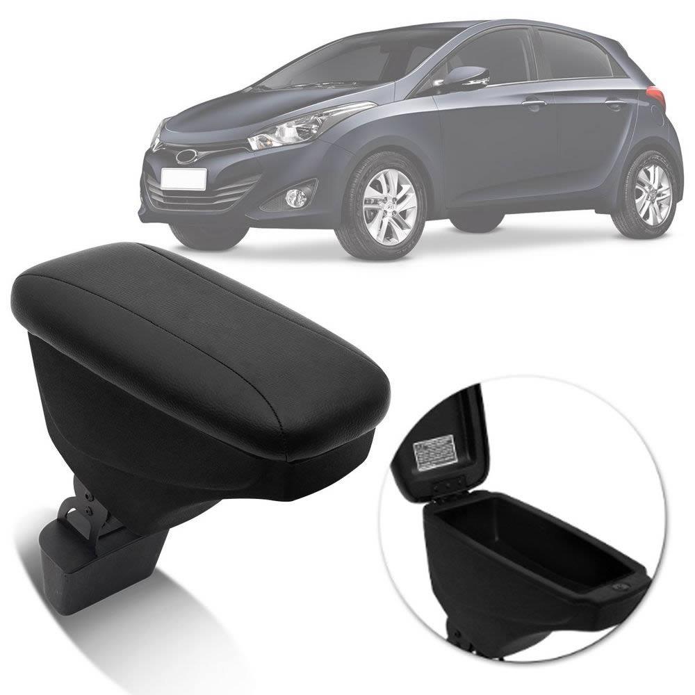 Apoio de Braço Hyundai HB20 - Couro Preto