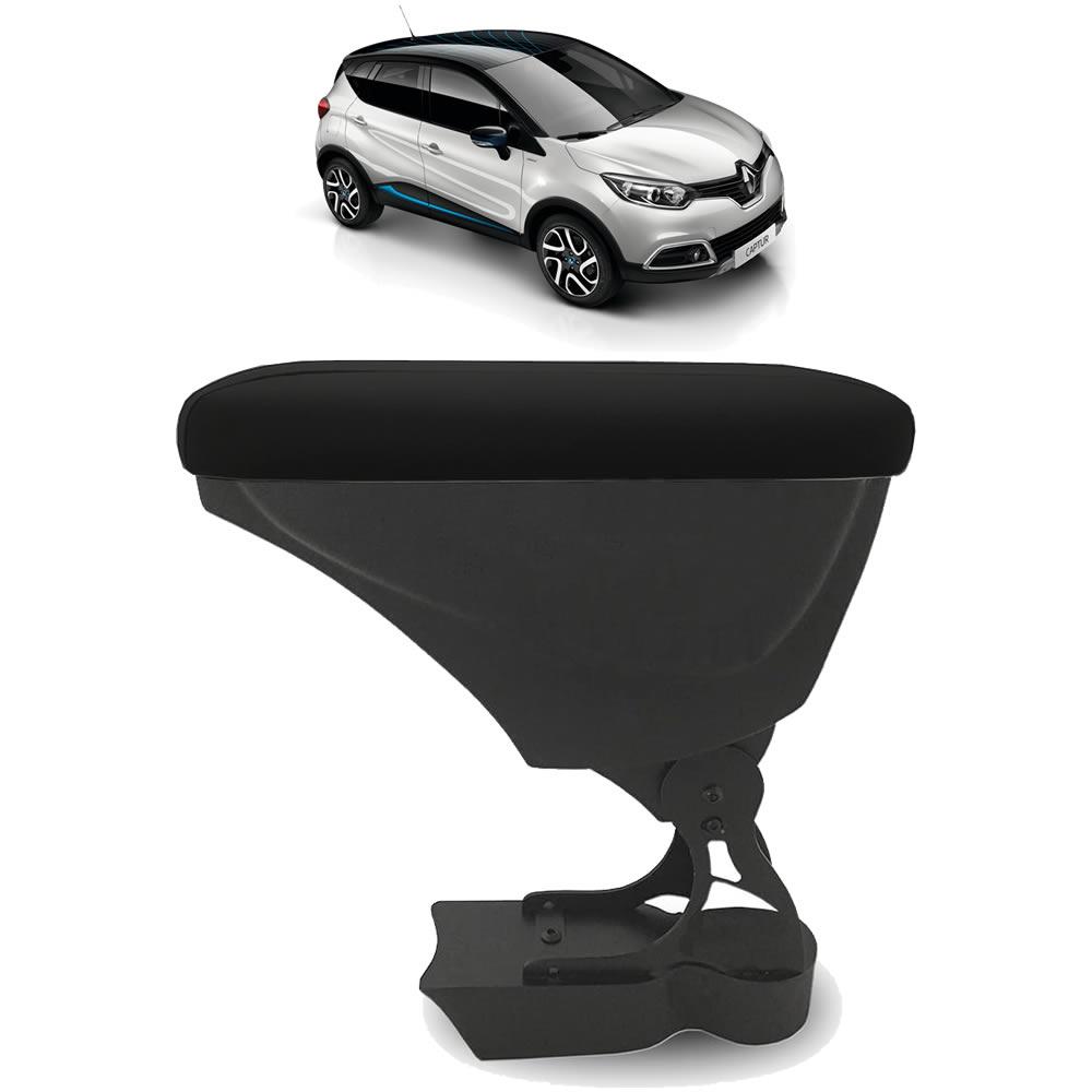Apoio de Braço Renault Captur - Couro Preto