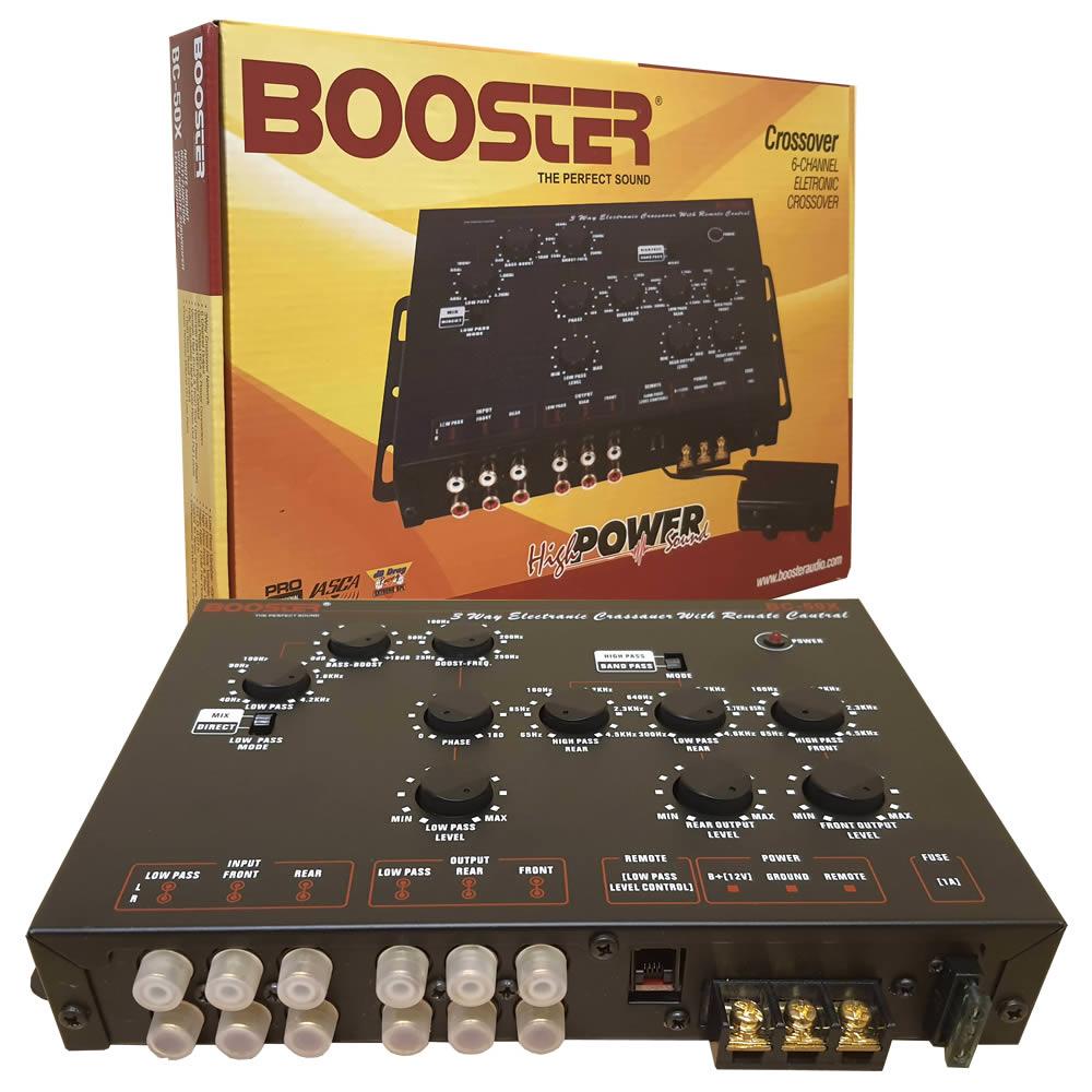 Booster Crossover Bc-50x com Controle de Subwoofer Remoto - 6 Canais - 3vias