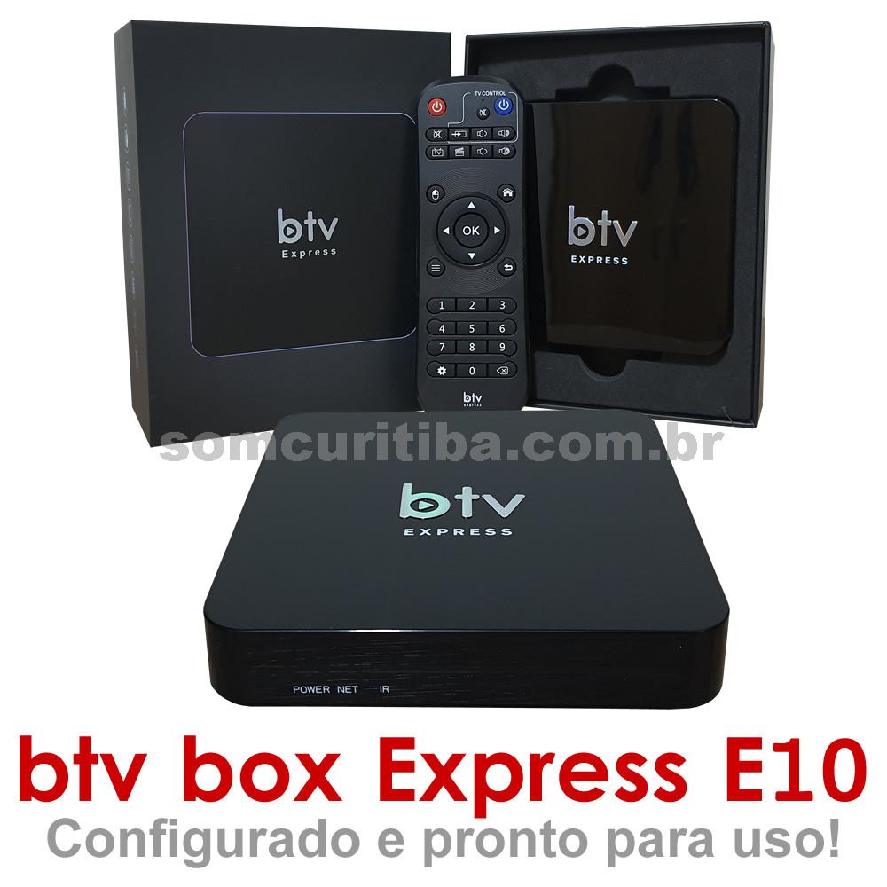BTV Express E10 - Receptor de TV Digital - 300 Canais - My Family Cinema