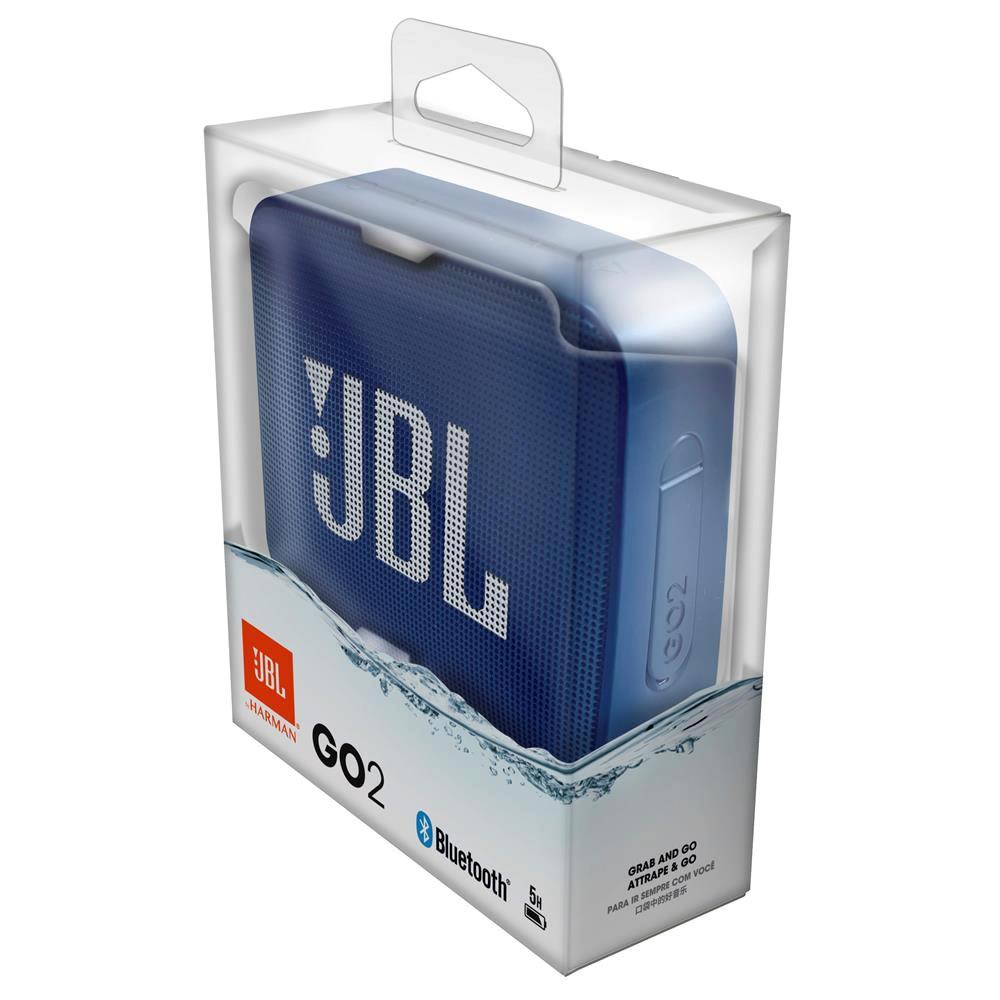 JBL GO 2 Caixa Acustica Portatil Bluetooth 4.1 - Blue - Azul