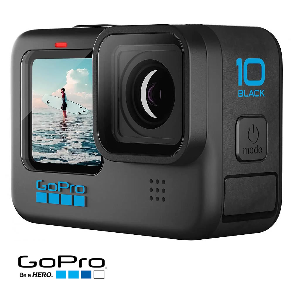 GoPro Hero 10 Black - Filmadora 5K 23mp RAW - Liveburst - Bluetooth - Wifi - Comando por voz - Hypersmooth 4.0