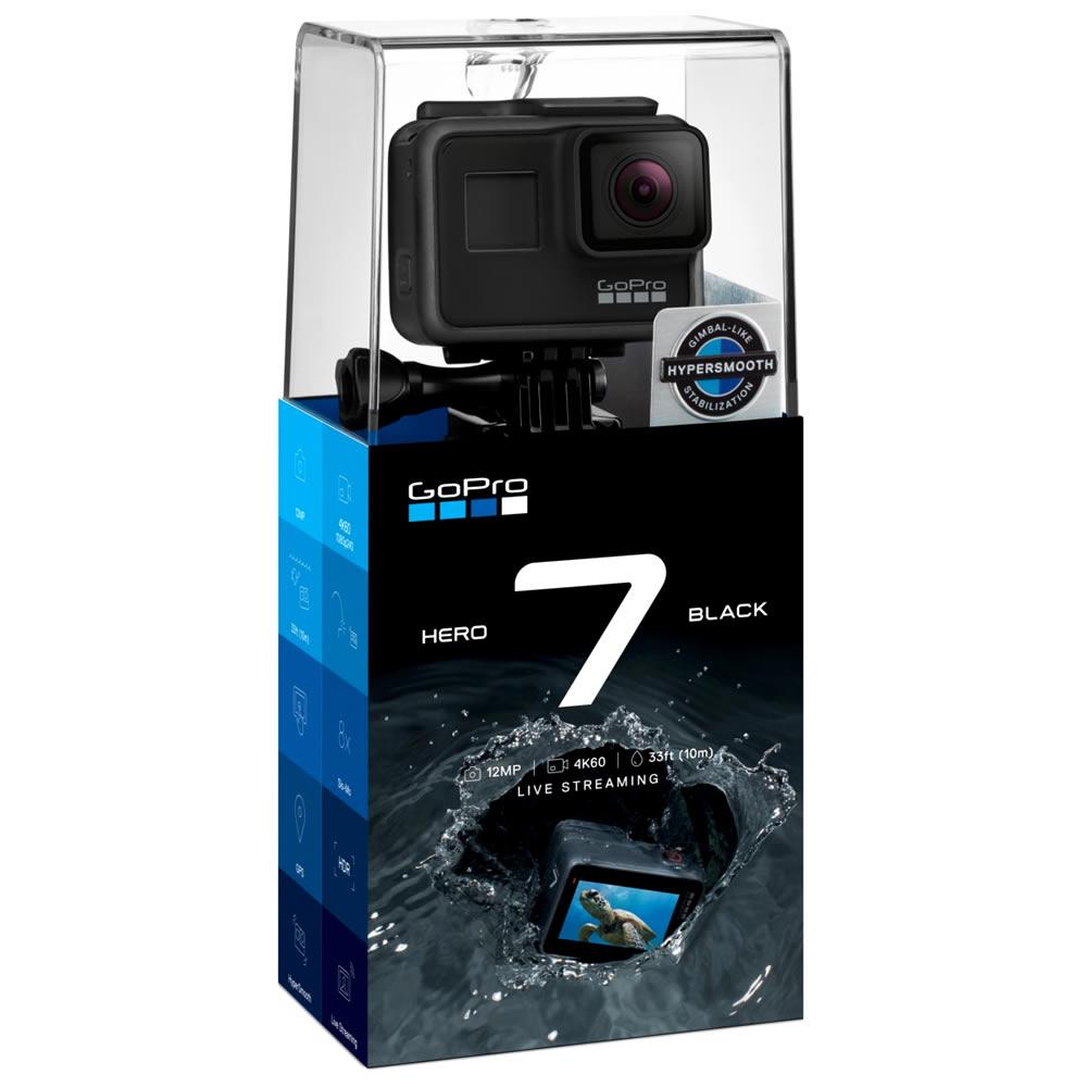 GoPro Hero 7 BLACK Camera 12mp RAW - resolucao 4k - Wifi - Comando por voz - Hypersmooth