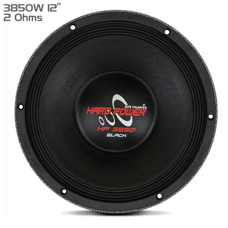 Hard Power HP3850 Black - Woofer 12 3850W RMS 2 Ohms