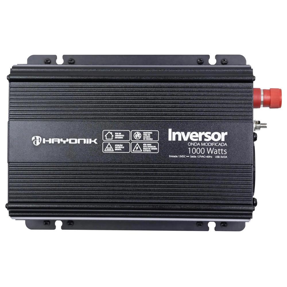 Hayonik Inversor PW de 12V para 127V com USB - 1500W