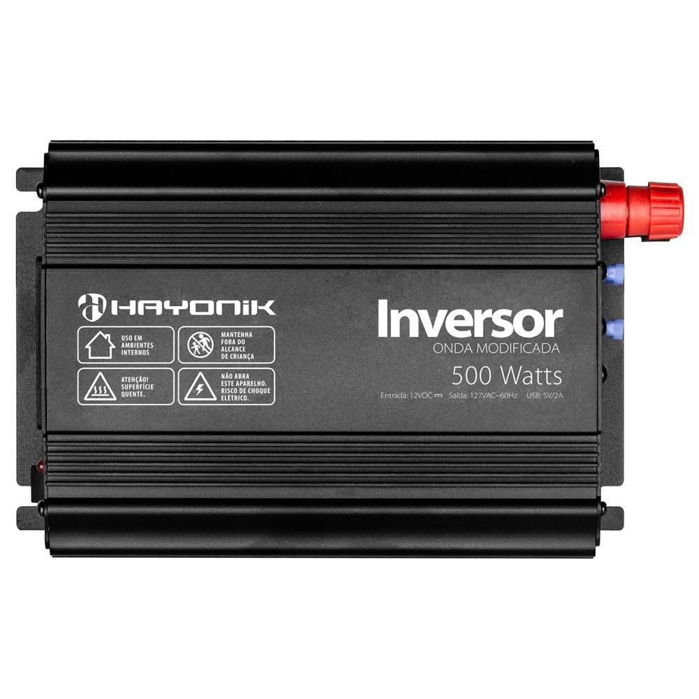 Hayonik PW Inversor de 12V para 127V com USB - 500W