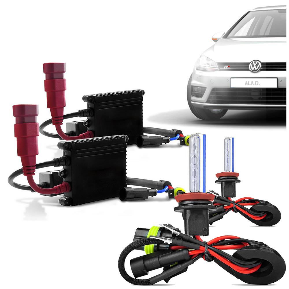 HID Kit Xenon Automotivo - 35W 6000K - H1 H3 H4-2 H7 H8 H16 H11 H27 HB4 HB3