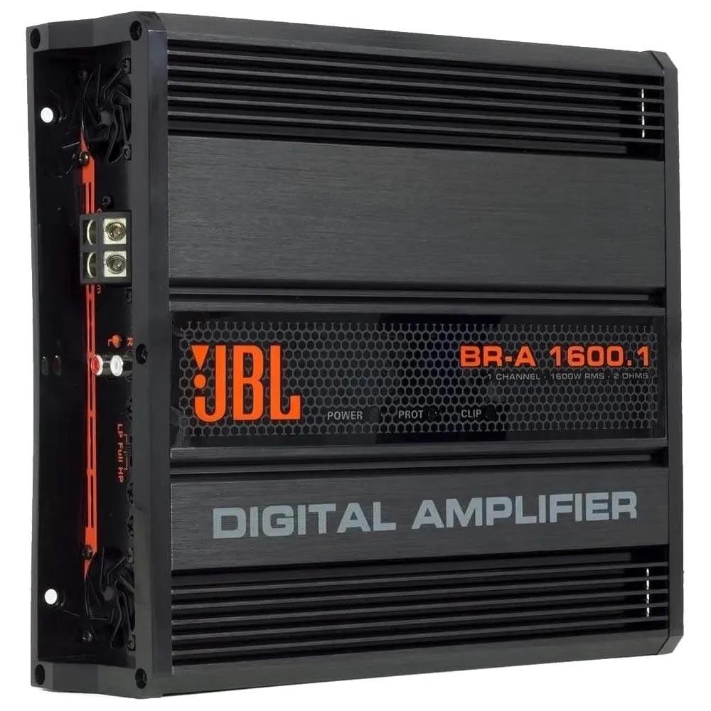 JBL BR-A 1600.1D Amplificador 1 Canal Mono - 1600W RMS em 1 Ohm