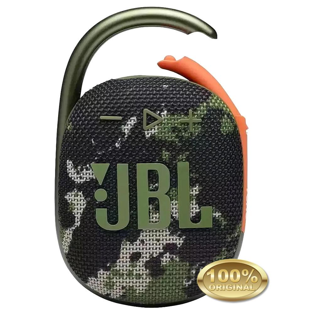 JBL Clip 4 - Caixa Acustica Portatil Bluetooth - Squad - Camuflada