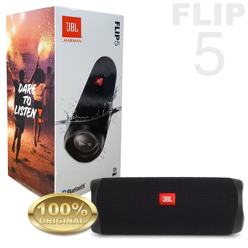 JBL Flip 5 Caixa Acustica Portatil Bluetooth - Prova Dagua - Preta