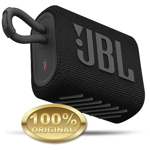 JBL GO 3 Caixa Acustica Portatil Bluetooth 5.1 - Black - Preta
