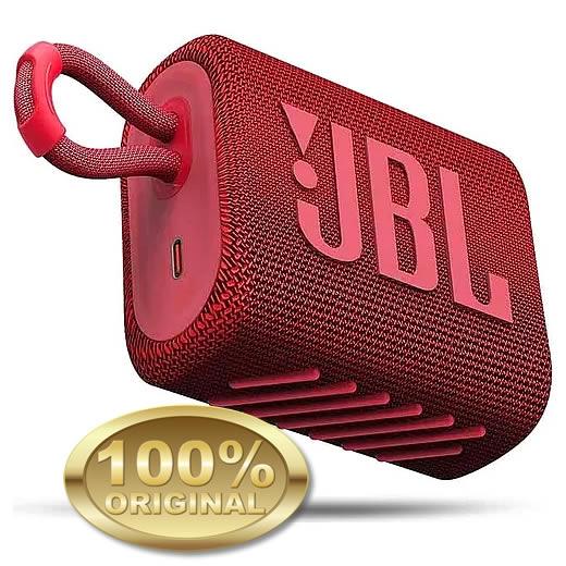 JBL GO 3 Caixa Acustica Portatil Bluetooth 5.1 - Red - Vermelho