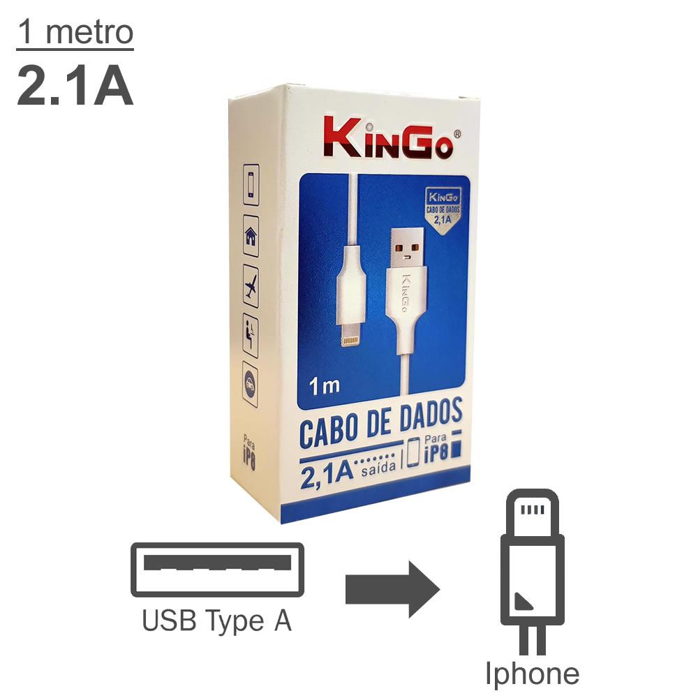 KinGo Cabo USB para Lightning padrão Apple - iPhone iPad - 1m