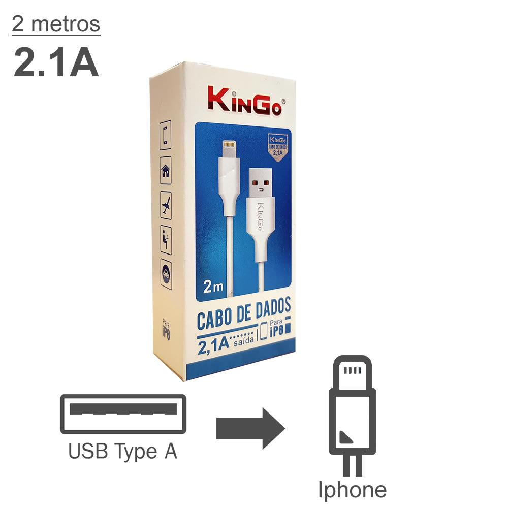 KinGo Cabo USB para Lightning padrão Apple - iPhone iPad - 2m