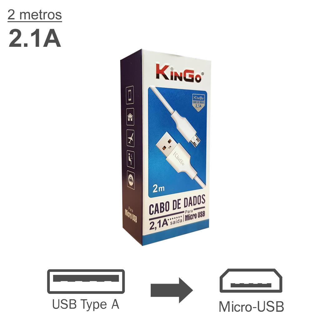 KinGo Cabo USB para Micro USB / V8 - 2m