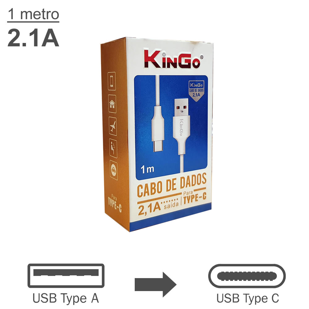KinGo Cabo USB para USB-C - 1m