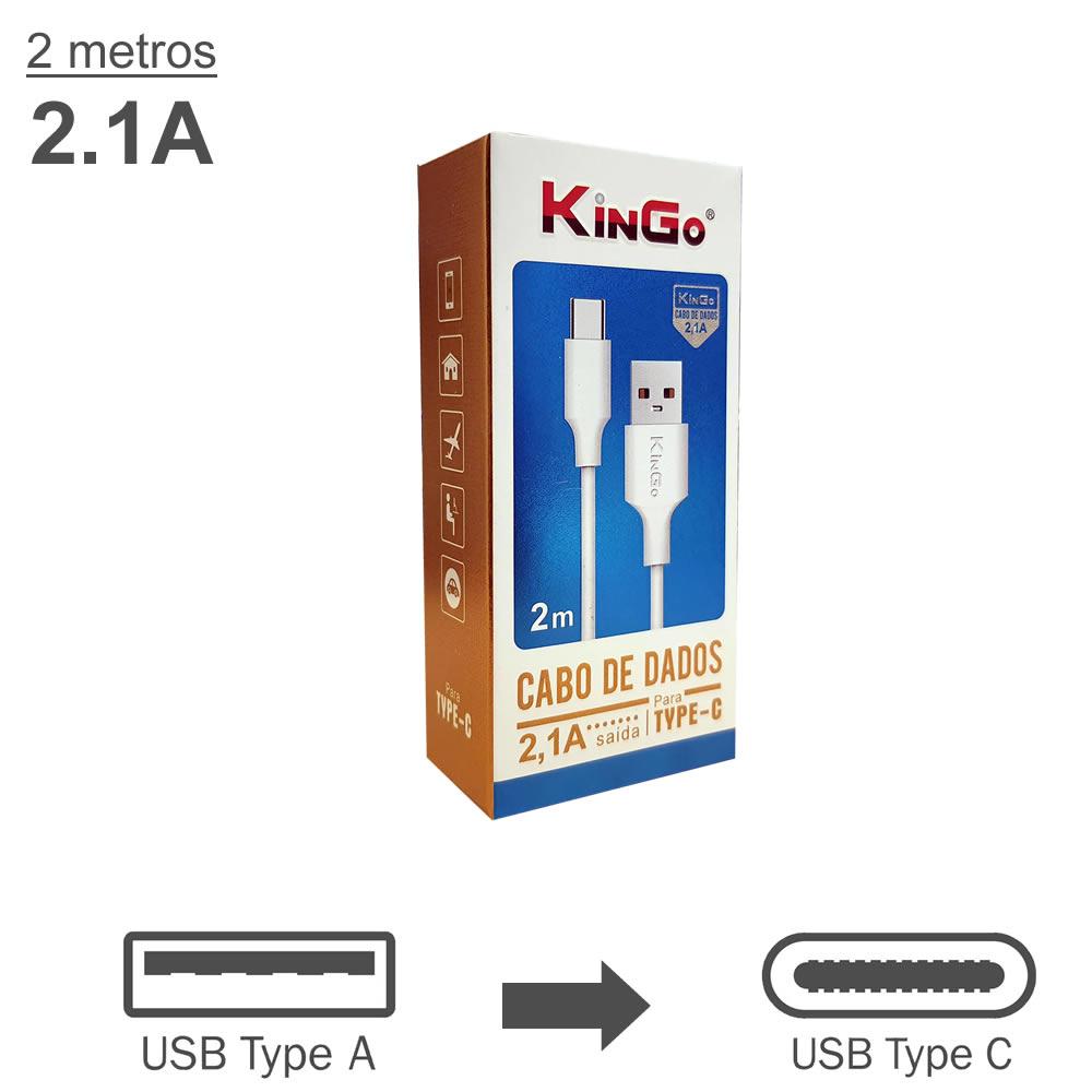 KinGo Cabo USB para USB-C - 2m