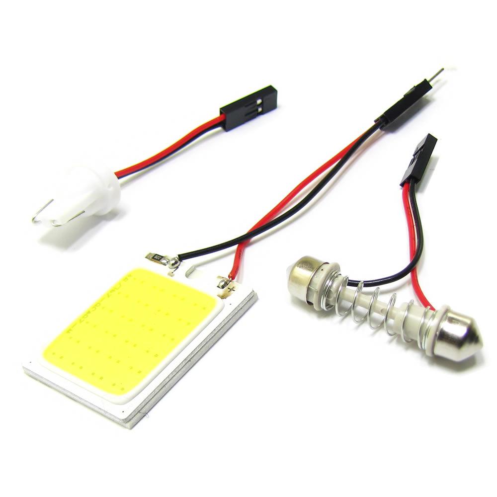 Led COB Placa 6000k para luz de placa ou iluminação interna Plug T10 e Torpedo
