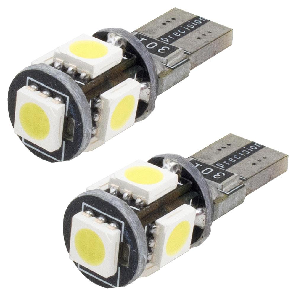 Led Pingo T10 com 5 leds super branco 6000k - PAR - Com Canceller