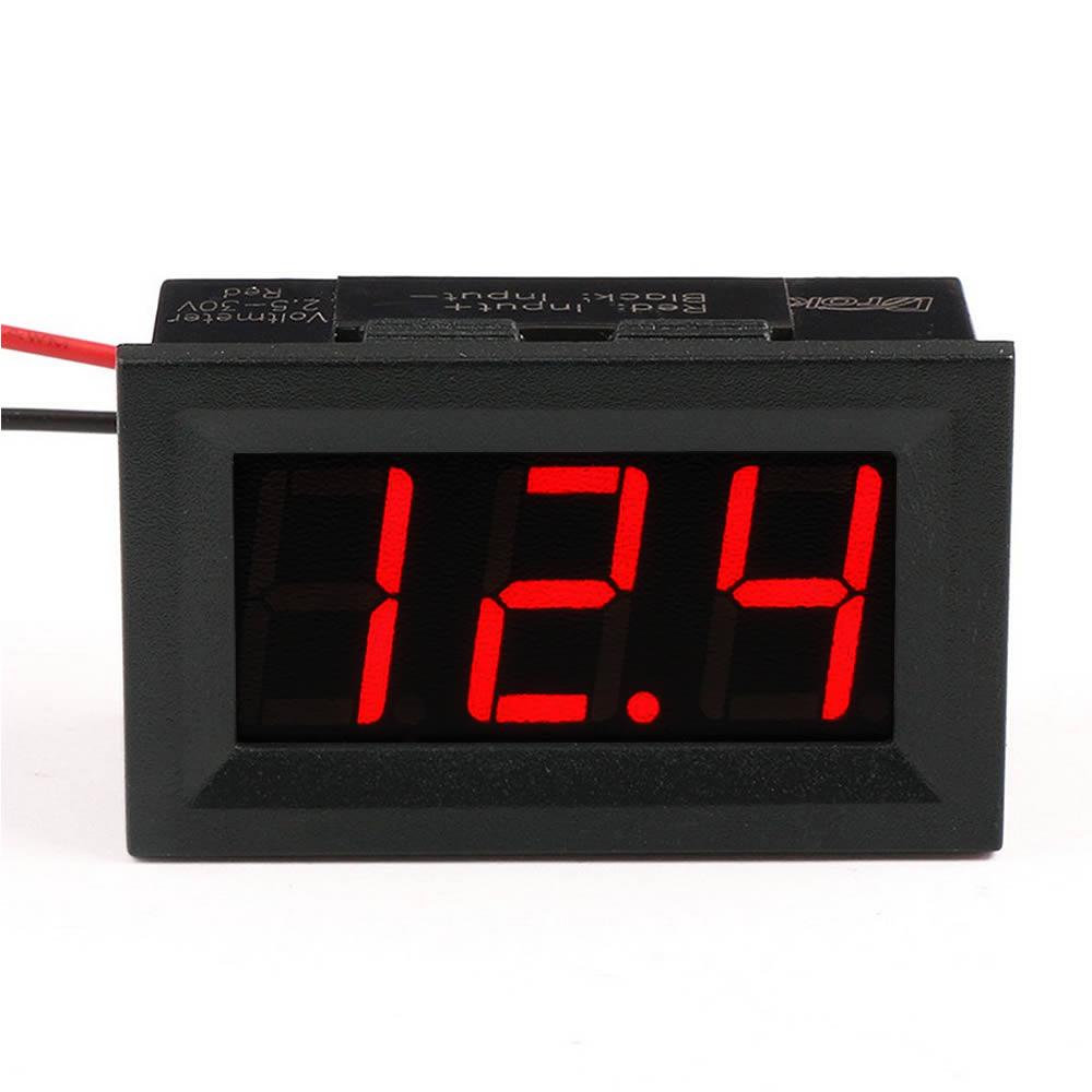 Mini Voltimetro Digital - Mede 4 a 30 Volts - Iluminação Vermelha