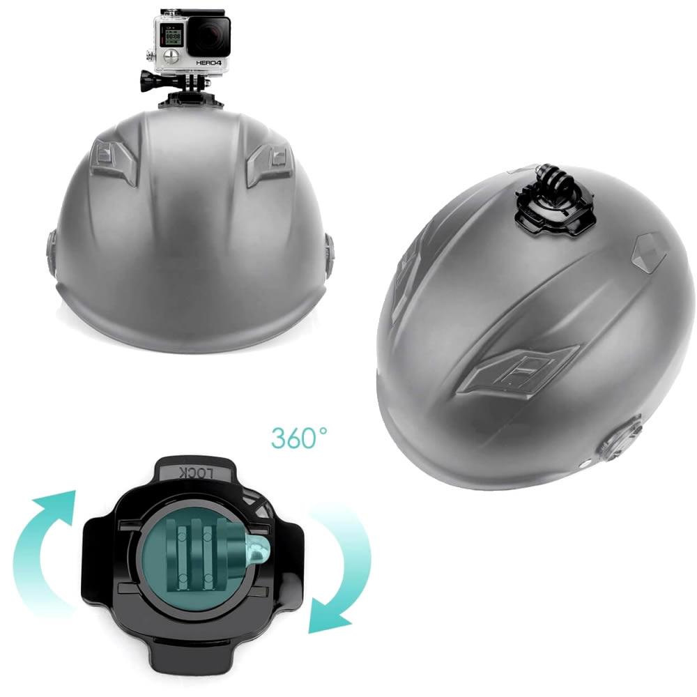 OEM Suporte Adesivo Curvo Giratório 360 Graus Para Capacete - Para todas as GoPro