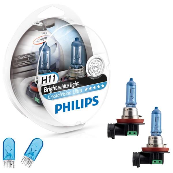 Philips Crystal Vision Ultra 4300K 55W + Pingos - mod. H11