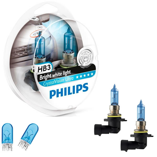 Philips Crystal Vision Ultra 4300K 55W + Pingos - mod. HB3