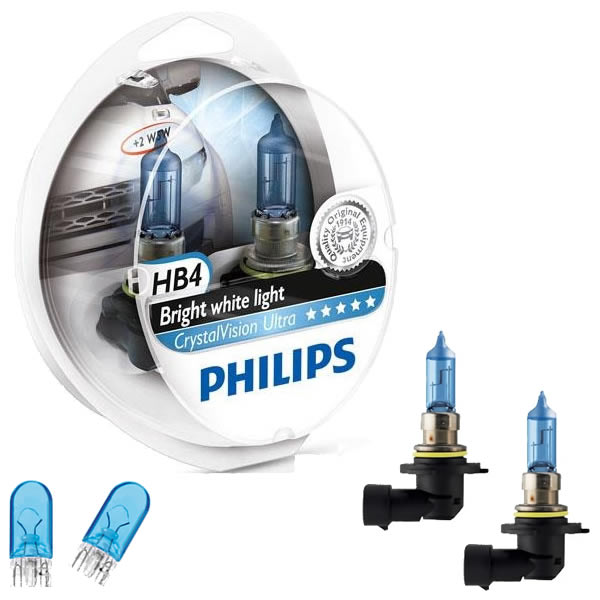 Philips Crystal Vision Ultra 4300K 55W + Pingos - mod. HB4