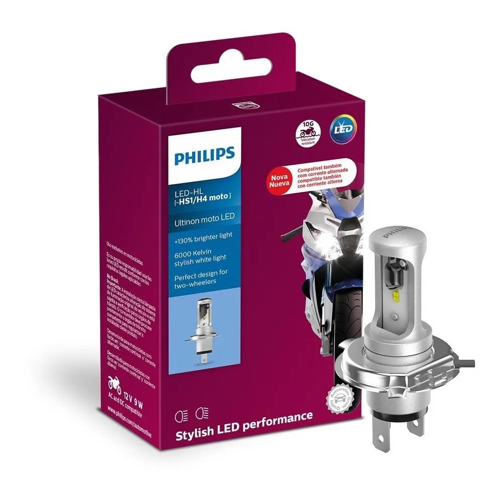 Philips LED Ultinion para Moto - 6000k Super Branco - H4