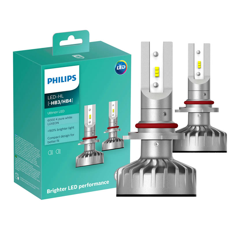Philips Ultinon Luxeon LED 6200K - H4 - H7 - H8 - H11 - H16 - HB3 - HB4