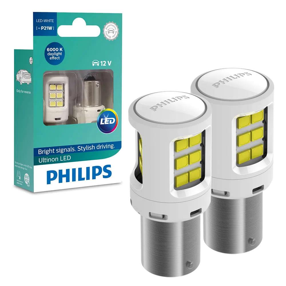 Philips Ultinon Par de LED P21W - 1 Polo para re ou pisca - 6000k Super Branco