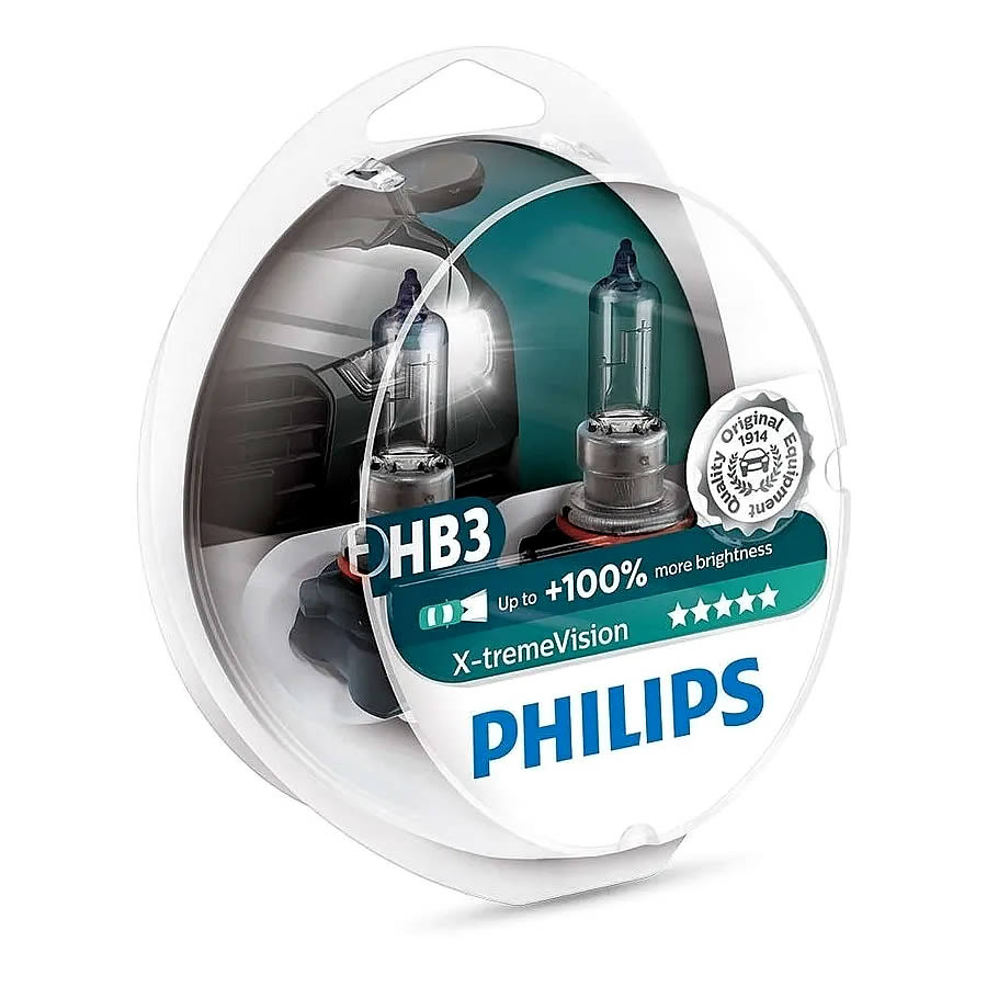 Philips Xtreme Vision +100% - 3350K 55W - mod. HB3
