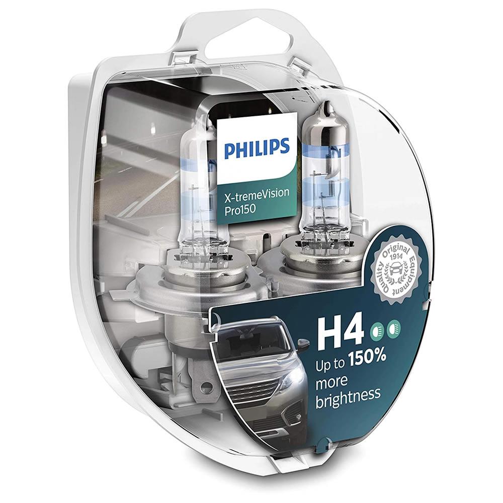 Philips Xtreme Vision PRO +150% - 3350K 55W - mod. H4