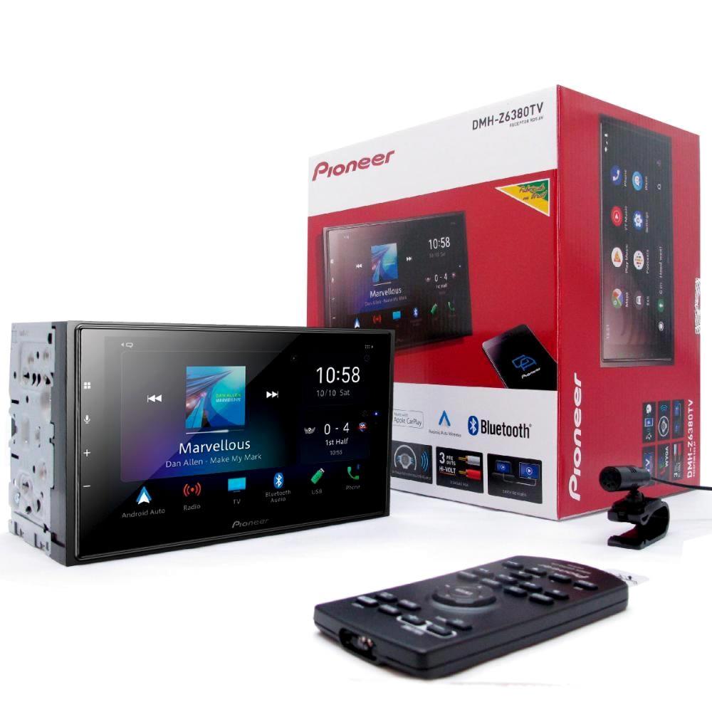 Pioneer DMH-Z6380tv Tela 6.8 Android Auto Apple CarPlay - 6 RCA - EQ 13 Bandas