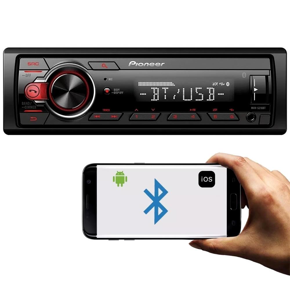 Pioneer MVH-S218BT Media Player Mp3 Bluetooth USB 2 RCA Sub-Control