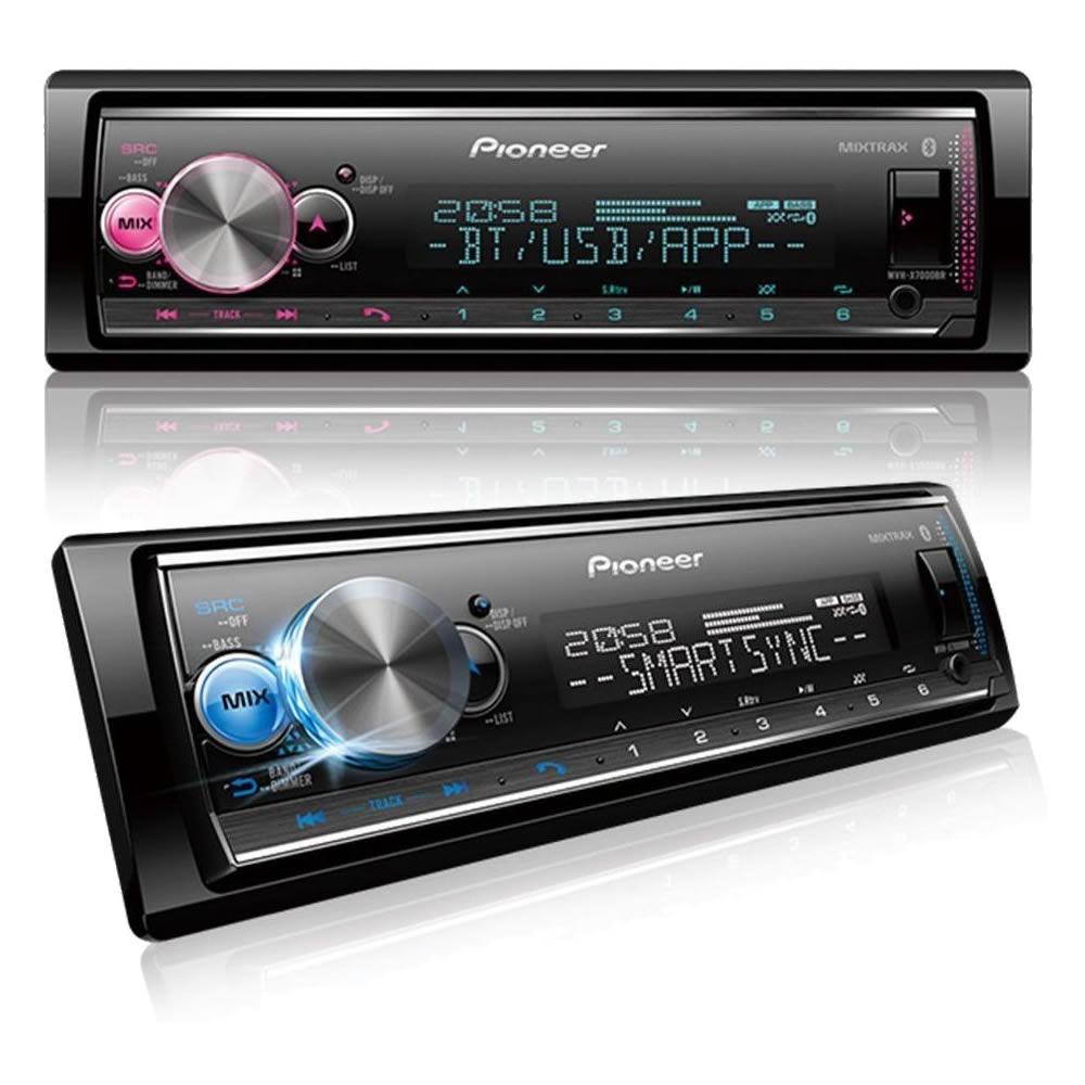 Pioneer MVH-X7000BR Media Player Mp3, Bluetooth, USB, 6 RCA, Sub-Control, Smart Sync