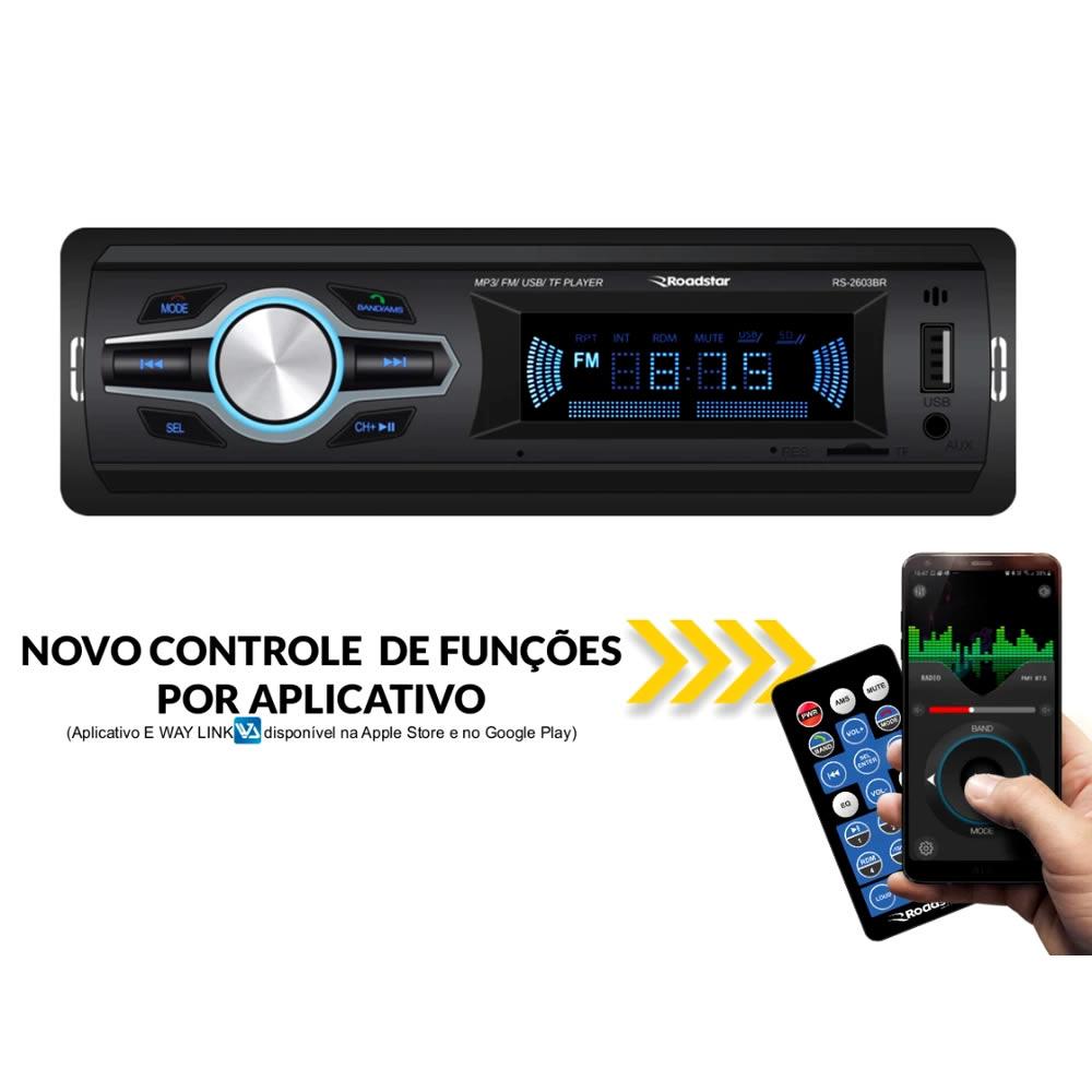 Roadstar 2603BR Auto Radio USB - Bluetooth - SD Card