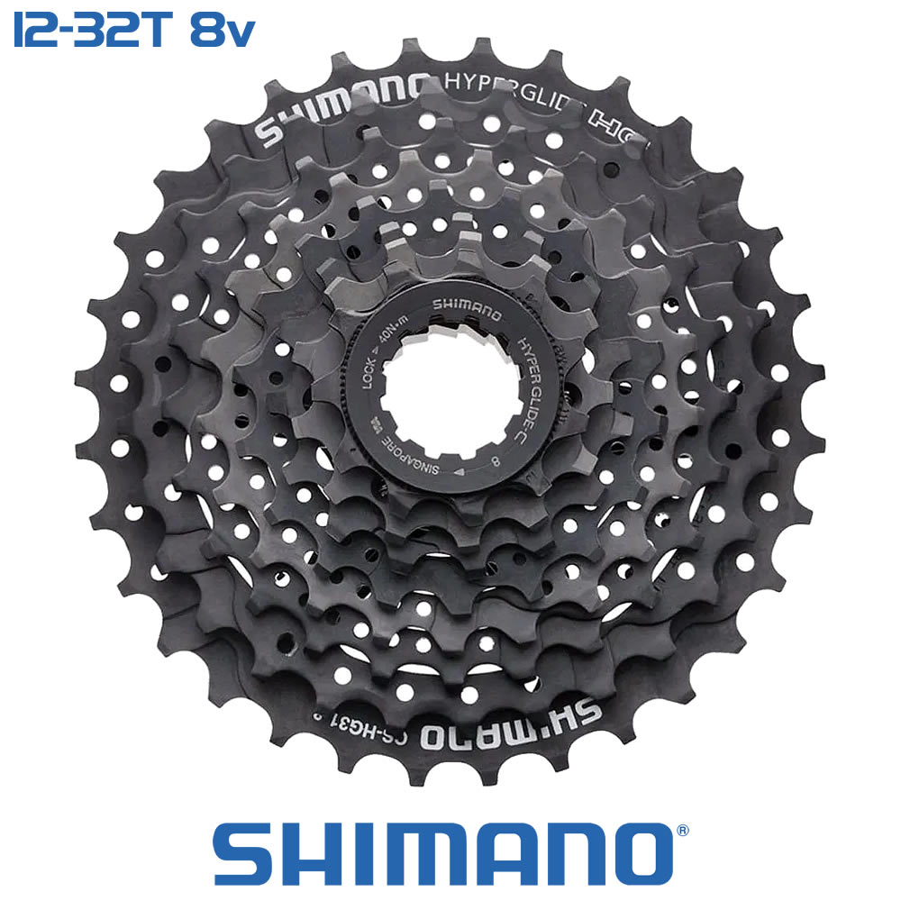Shimano Cassete CS-HG200-8 12-32T - 8 Velocidades