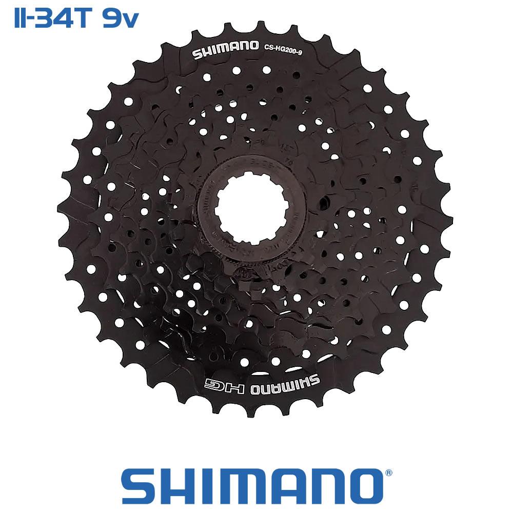 Shimano Cassete CS-HG200-9 11-34T - 9 Velocidades
