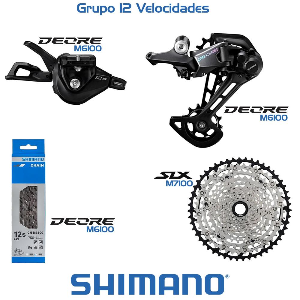 Shimano Grupo Deore M6100 + Upgrade de Cassete para SLX 12V 10-51T