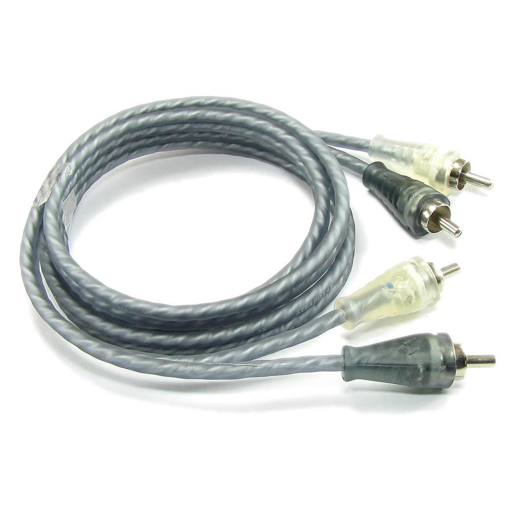 Stereo Lab EL100 Cabo RCA Hi-Fi Ox-Free Cobre Puro- Dupla Blindagem - 1m