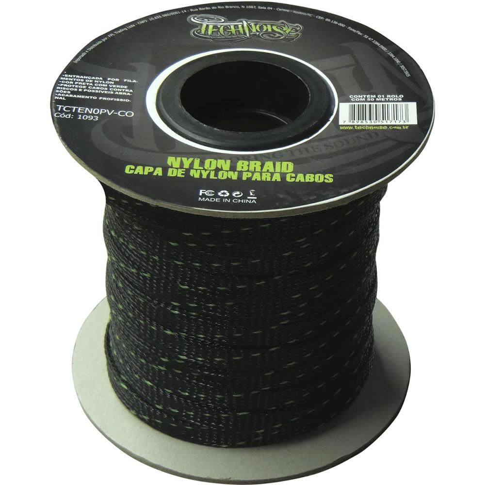 Technoise Malha Nautica TECHFLEX 4AWG para cabos até 2x4,0mm ou 21mm - Trança de Nylon - Metro