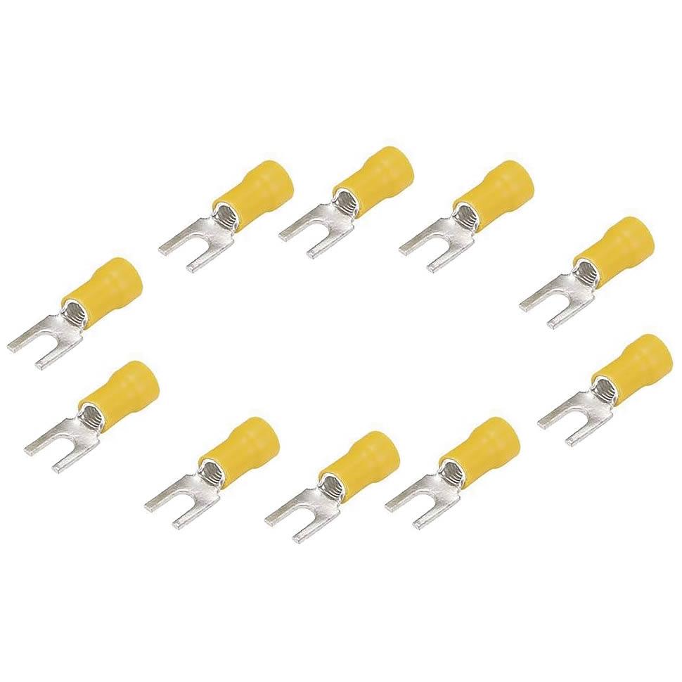 Technoise Terminal Garfo Amarelo para cabos até 4,0mm - 10 un.