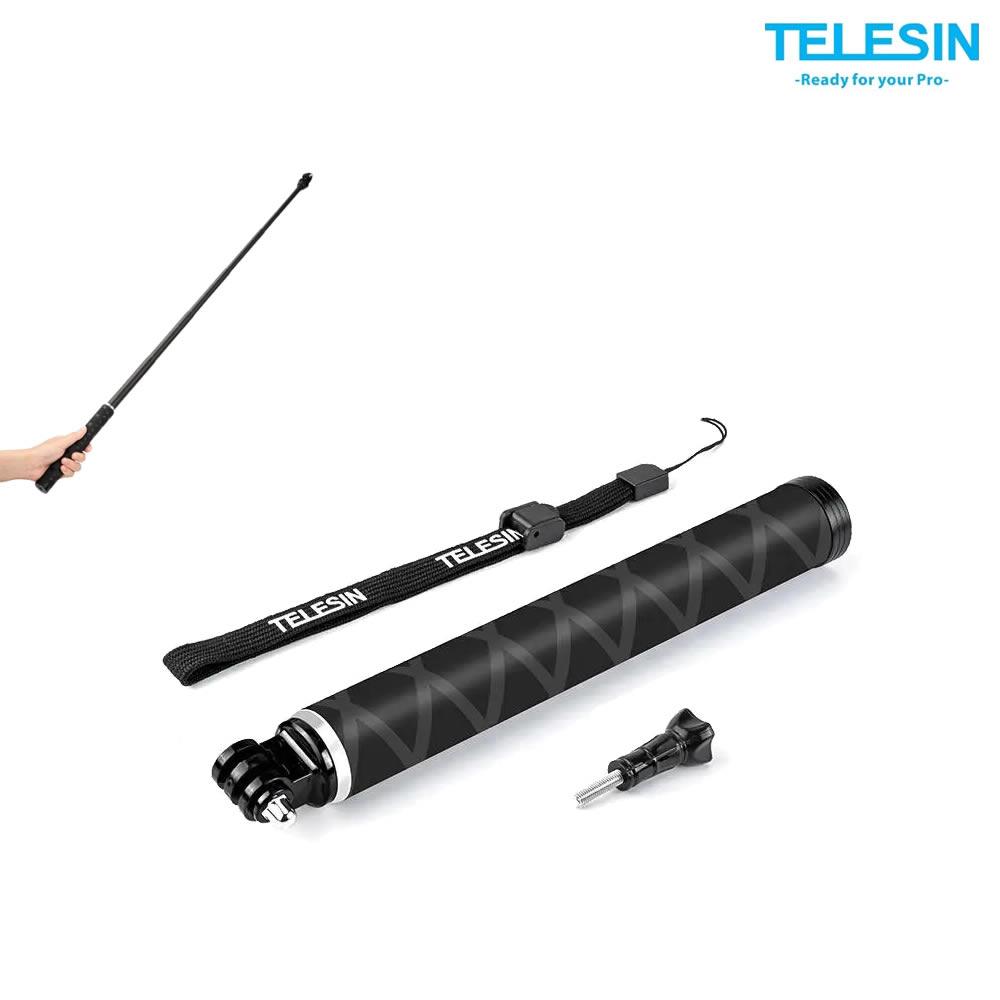 Telesin Bastao Selfie em Fibra de Carbono para GoPro 90cm - GP-MNP-90D