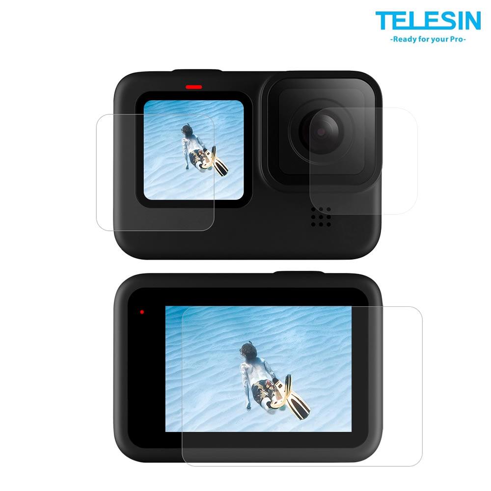 Telesin Gp-Flm-902 Kit 6x Pelicula Protetora Para Lente e Tela de GoPro Hero 9