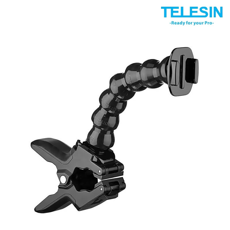 Telesin GP-JFM-001 JAWS FLEX - Suporte Flexivel com Garra Multiuso para GoPro