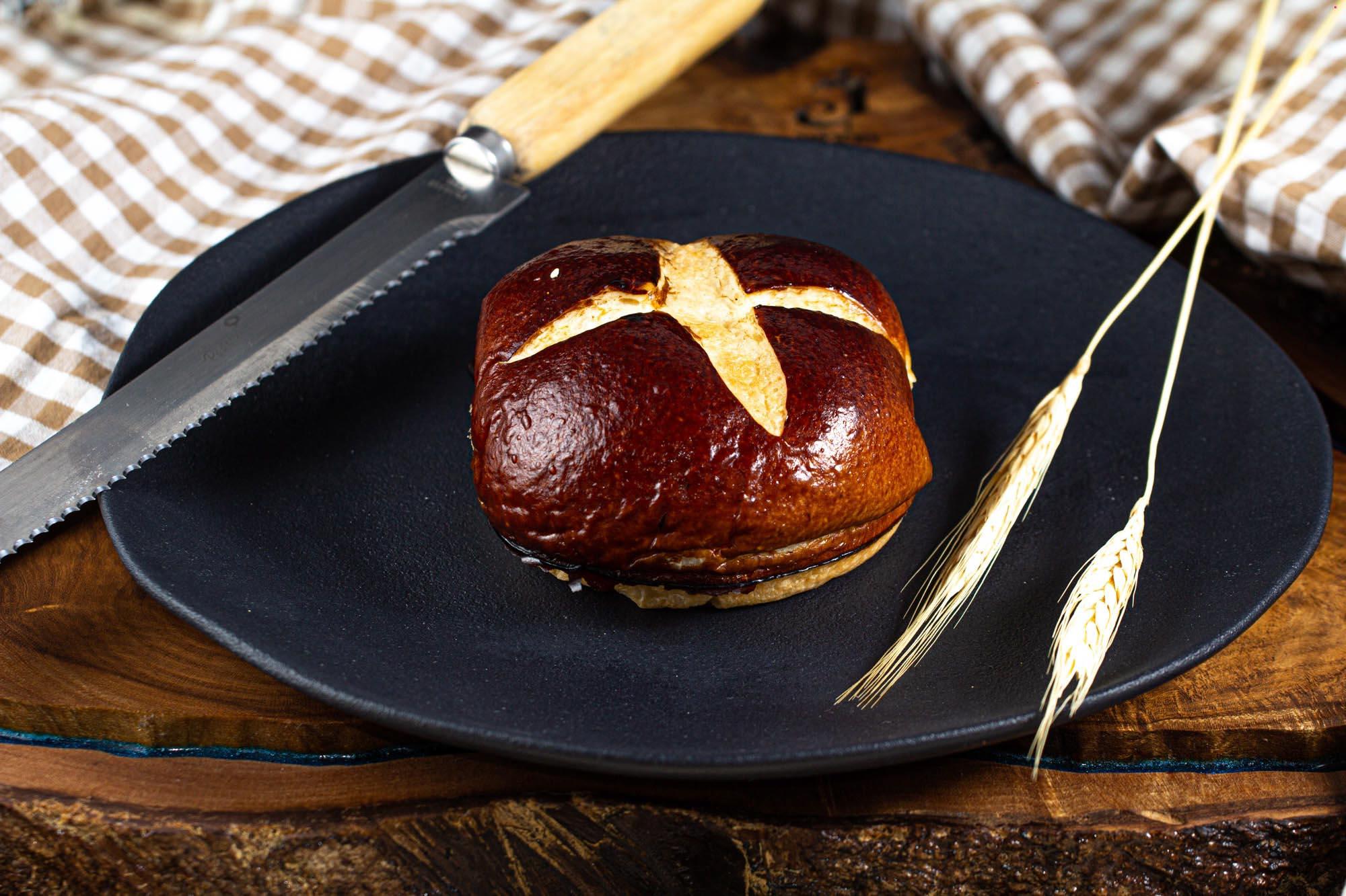 Hambúrguer de Brioche Dark - 6 und