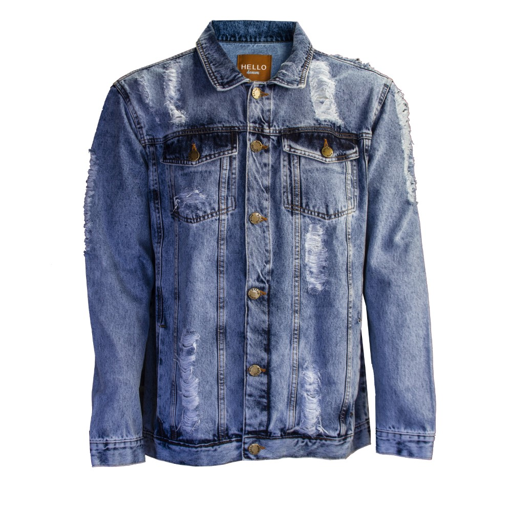 Jaqueta Jeans New Destroyed - B45