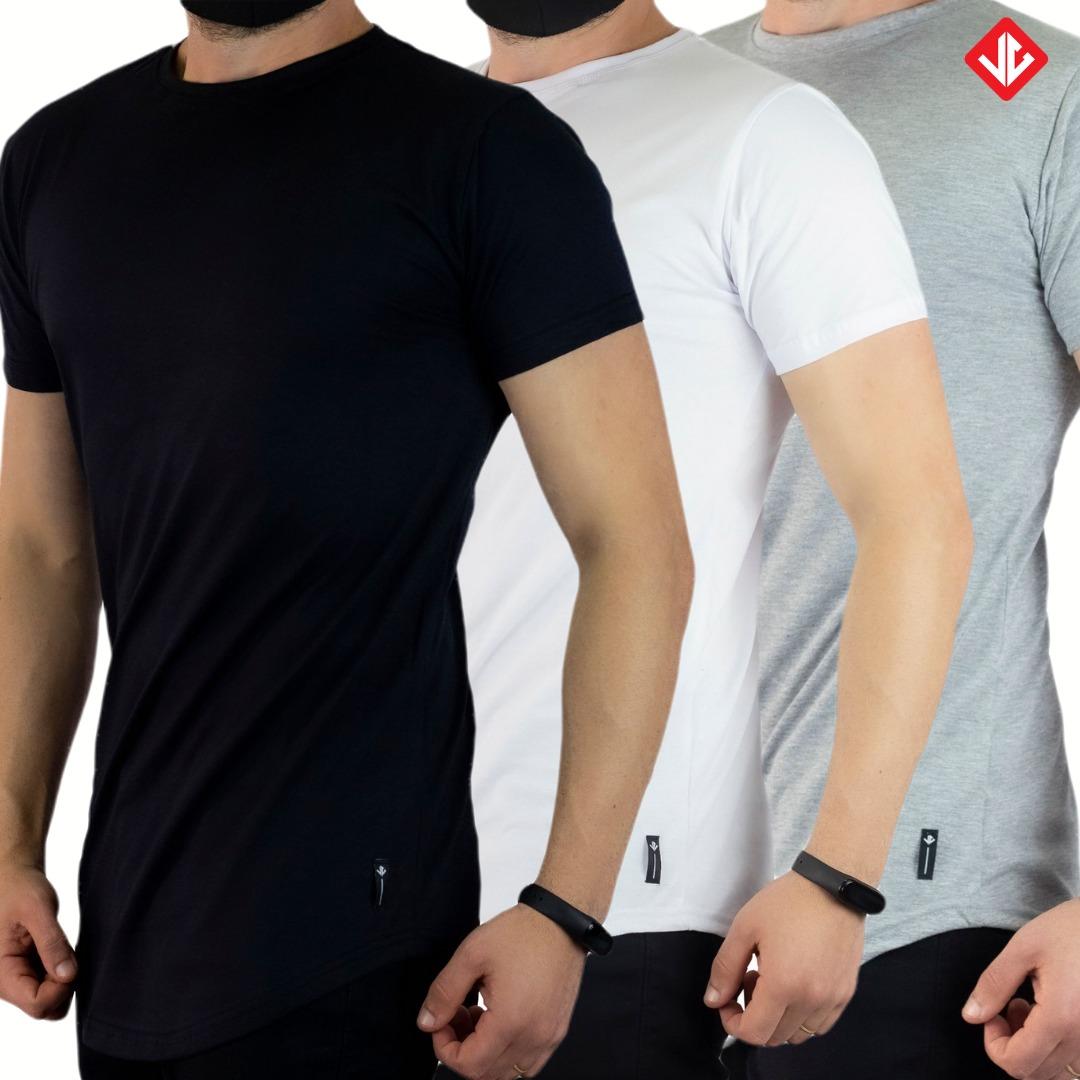 Kit 3 Camisetas LongLine